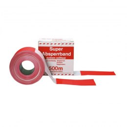 Red and white tape marking